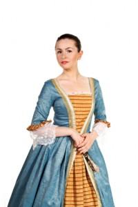 Frau in mittelalter Kleidung