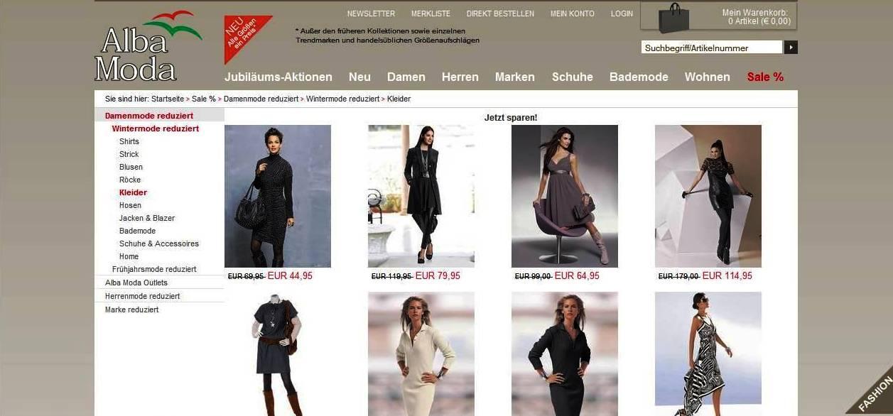 Alba Moda  online shop Abbildung
