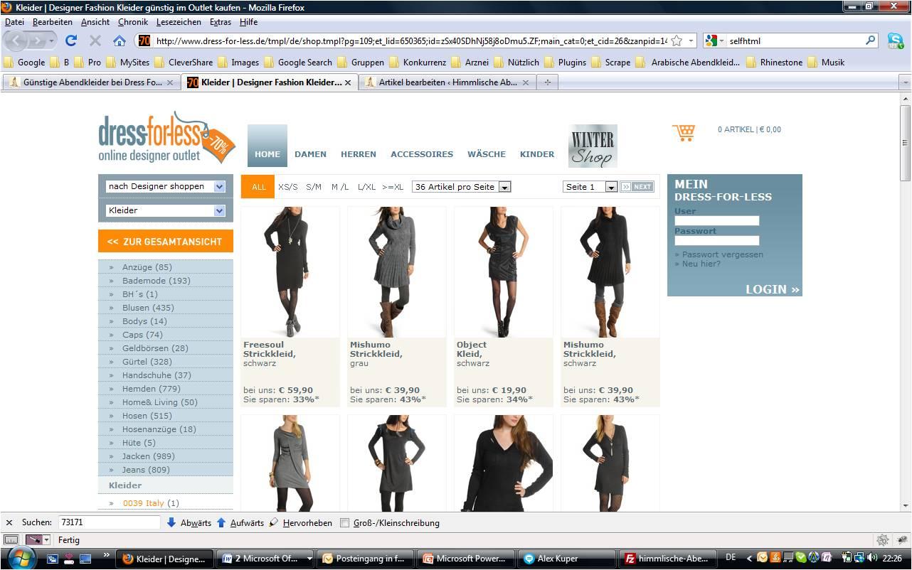 dress for Less  online shop image