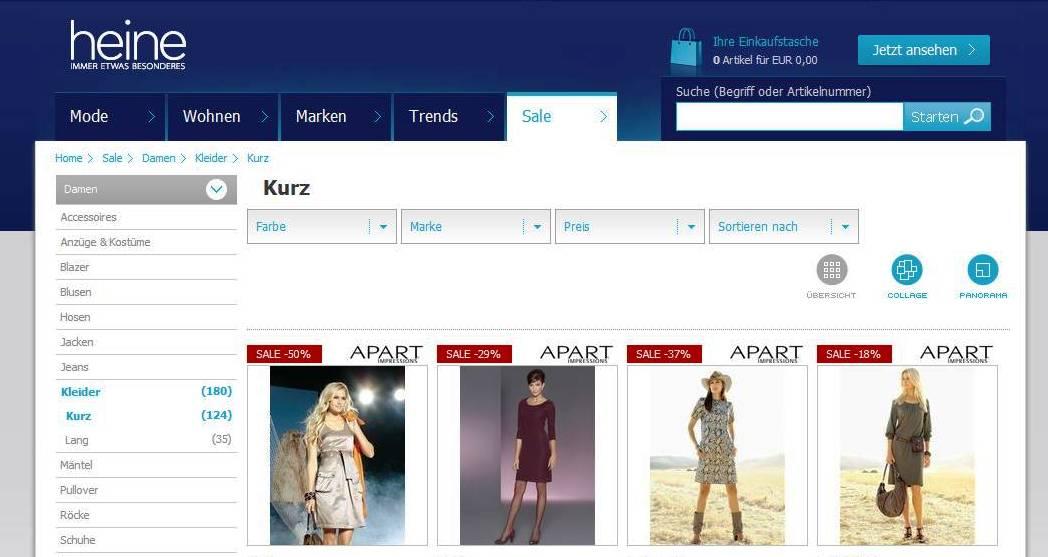 heine  online shop image