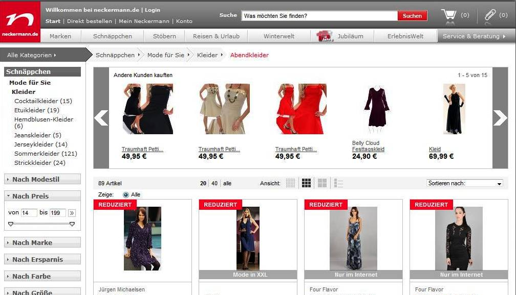 neckermann  online shop