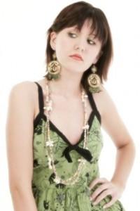 kleid türkis grün