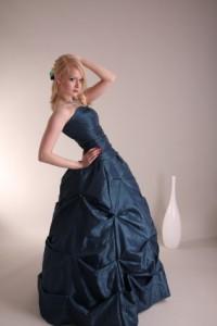 ball kleid blau