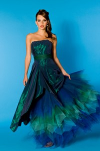 designer abendkleid in blau