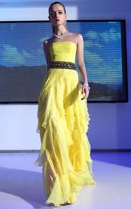 abendkleider gelb